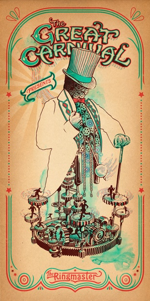 The Great Carnival poster series by  Eric Van Den Boon of Boom Artwork