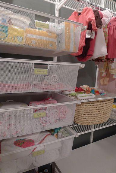 Baby S New Elfa Closet System Nursery Organization