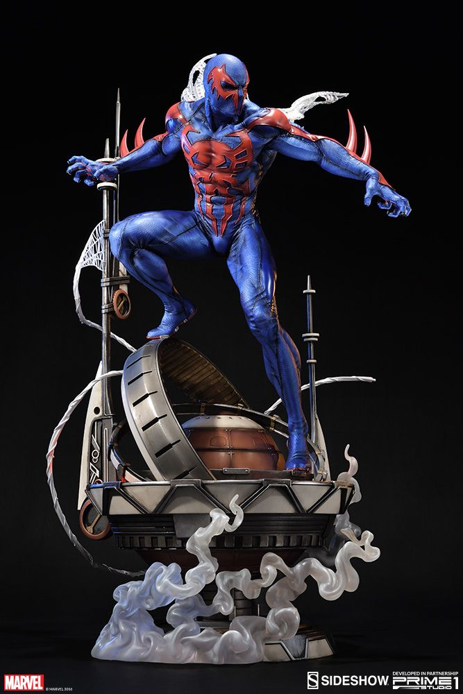 The Spider-Man 2099 Statue is available at Sideshow.com for fans of Prime 1 Studio and Marvel Comics' Miguel O'Hara.
