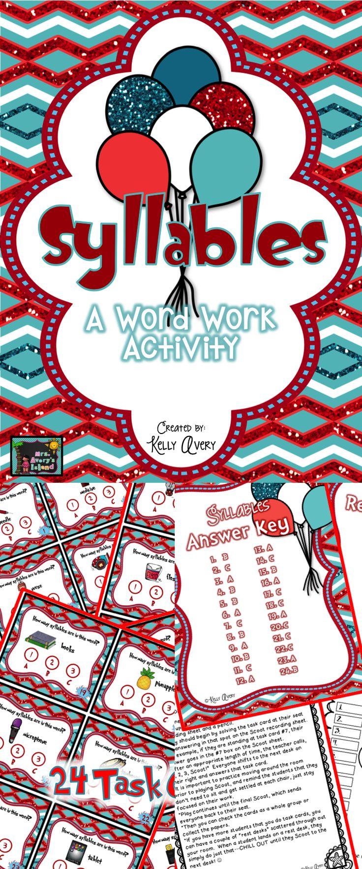 Syllable patterns vccv worksheet education com - Syllables Syllable Counting Daily 5 Work On Words Word Work Activities Teachersfollowteachers Teacherspayteachers