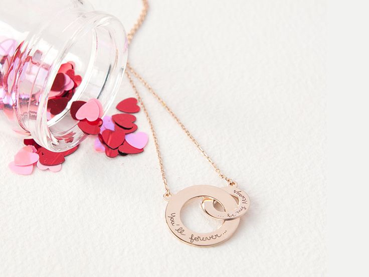 Personalised Intertwined Necklace. Available in 925 sterling silver , 18k gold plated and 18k rose gold plated. #intertwined #bespokenecklace #necklace #love #valentine