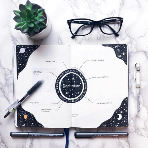 Top 10 black bullet journal layout ideas!