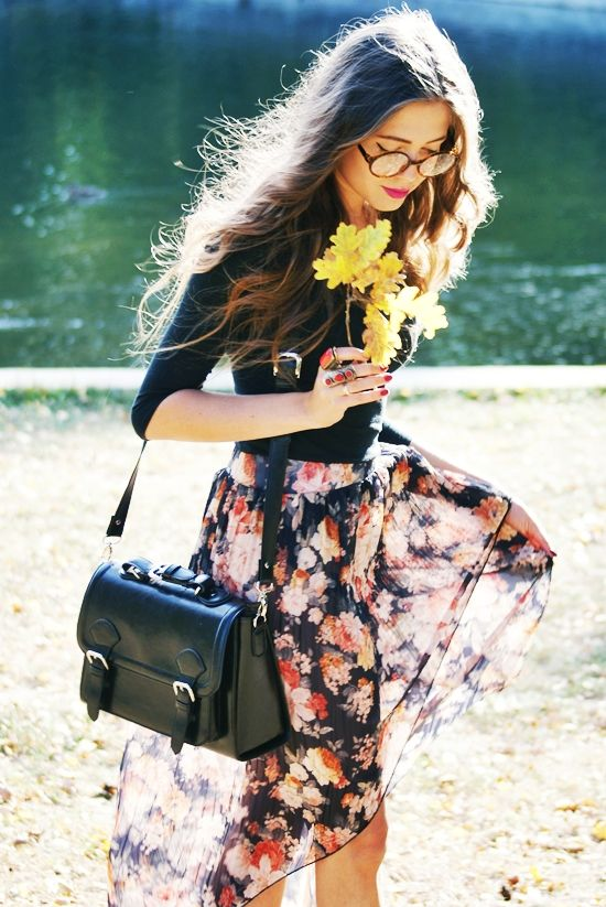 Inspiring picture floral print trend, fashion, style, inspiration, flowers. Resolution: 500x748 px.
