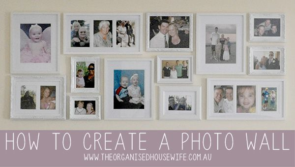 Creating a Family Photo Wall » Tips and tricks for choosing frames, planning the arrangement and hanging.