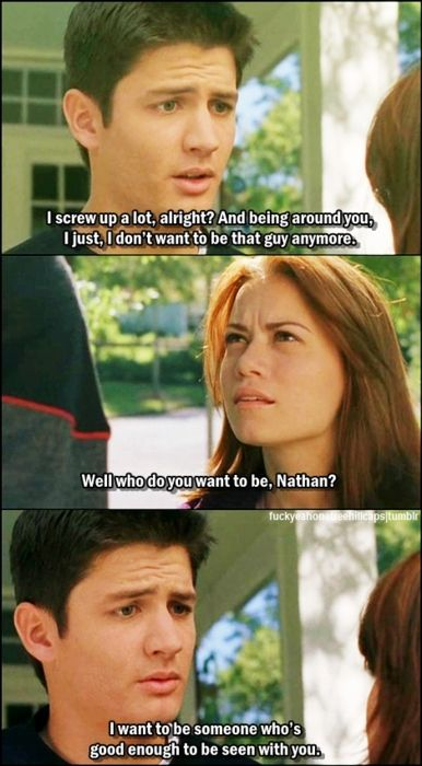 I LOVE THIS SCENE WITH HALEY AND NATHAN IT JUST MAKES ME WANT TO CRY BECAUSE OF THE STRONG COUPLE THAT THEY BECOME.