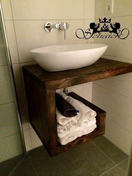 Upcycling! Exclusive wash basin, industrial design, solid, handmade, unique