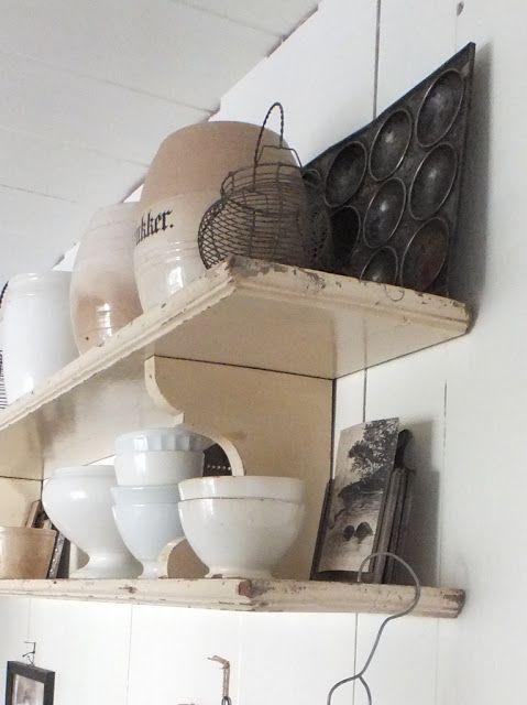 ... images about Keuken on Pinterest  Shelves, Vintage and Rustic modern
