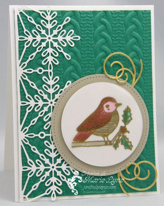 Carte de Noël réalisée avec la technique du faux vitrail. #vitrail #stampinup #cardmaking Tous les produits présentés sont vendus sur http://jardindepapier.com