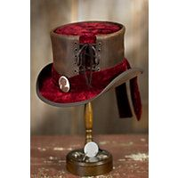Steamy Collection of Steampunk Hats for Sale: Steampunk Havisham Leather Top Hat,  $349.00 #steampunk #hat