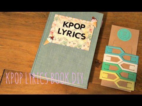 DIY KPOP LYRICS BOOK - YouTube