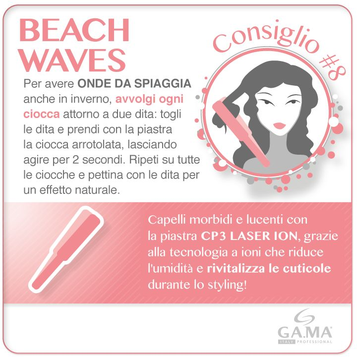 Onde da spiaggia anche in inverno con i consigli di #GamaProfessional e la #piastra CP3 Laser Ion, che rivitalizza le cuticole dei #capelli grazie alla tecnologia a ioni! /// #Beachwaves in winter with #Gama #tips and #straightener CP3 Laser Ion, which revitalizes #hair cuticles! www.gamaprofessional.it/Piastre/Piastra_CP3_Laser_Ion_Tourmaline #piastre #straighteners #hairstraightener #hairstraighteners #hairtips #howto #tutorial #gamaconsiglia #capellimossi #wavyhair #beautytechnology