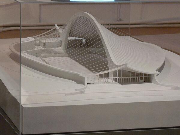 Maqueta de Ingalls Rink (The Whale) Hockey Stadium, #Yale University by #Architect Eero Saarinen, New Haven 1953-58 #architecture  pic.twitter.com/gOy6Dxbuld #archipalooza