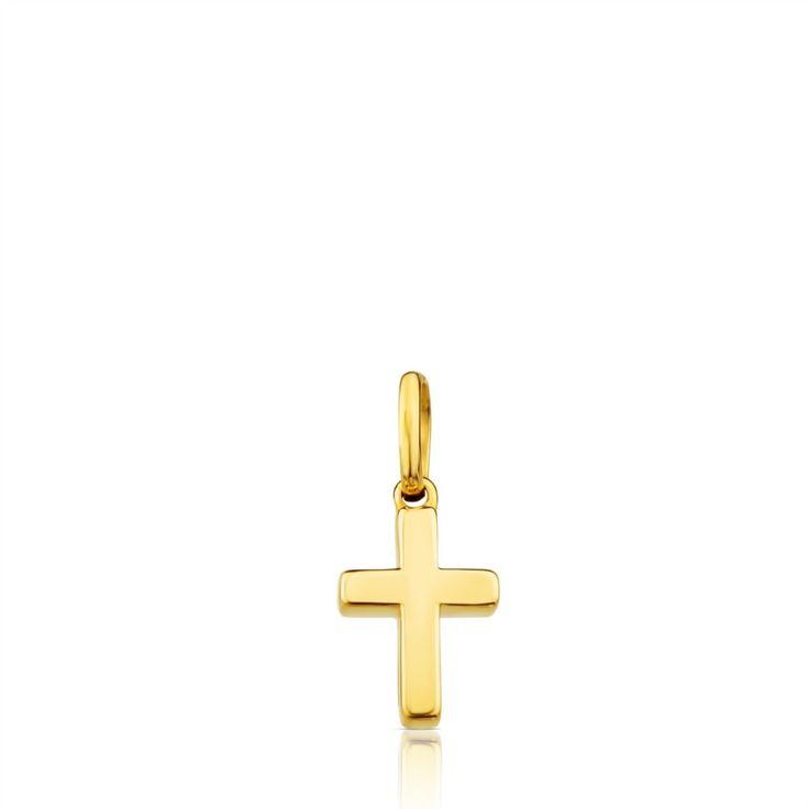 Złota zawieszka-krzyż Tous Cruz
