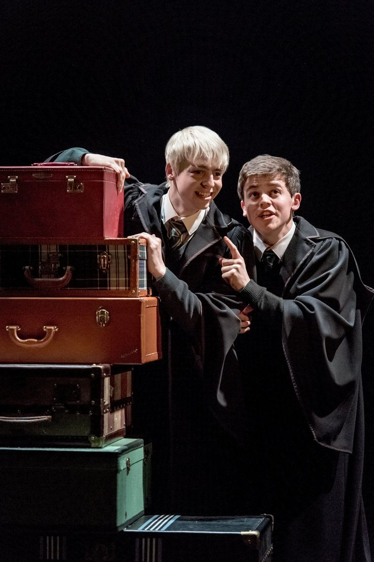 Albus, Harry's son, is friends with Scorpius Malfoy, son of Harry's arch enemy Draco. 'But is Albus, as Harry suspects, an innocent dupe?' wonders Billington. 'And is there any truth in the rumour that the blond Scorpius, who looks like a thinner, adolescent version of Boris Johnson, is really the child of the dark wizard, Lord Voldemort?' L-R: Anthony Boyle (Scorpius Malfoy) and Sam Clemmett (Albus Potter)Harry Potter and the Cursed Child: the West End extravaganza – in pictures