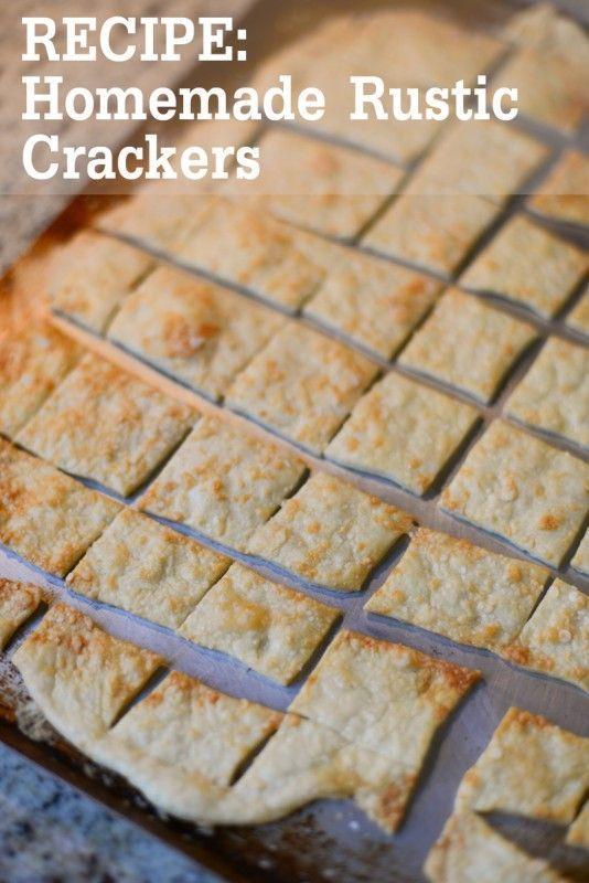 homemade rustic crackers recipe