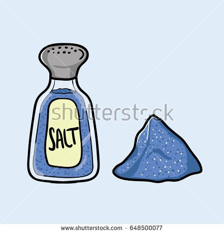 Cartoon Salt Vector Illustration For Cooking game