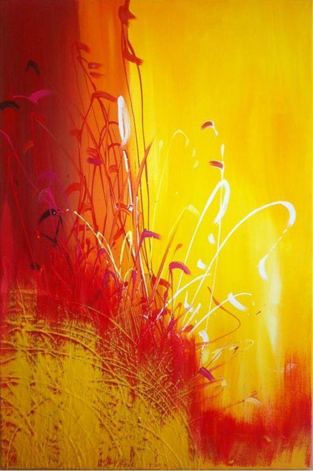 Toile Abstraite. Acrylique sur toile de coton. 24'' x 36'' Summer Paradise. Karolanne Leduc. Suivez-moi sur Facebook Karolanne Leduc Artiste