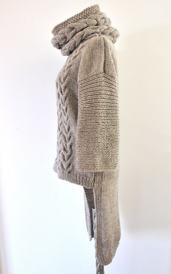 Sweater Cardigan Cowl Sweater Jacket Coat Tunic by reflectionsbyds, $210.00