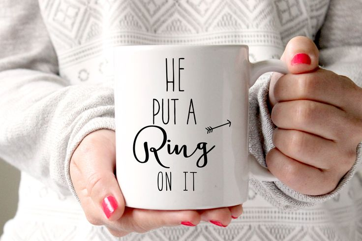 He Put a Ring On It Coffee Mug, Engagement Gift