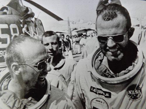 Gemini 5 astronauts Pete Conrad and Gordon Cooper ...