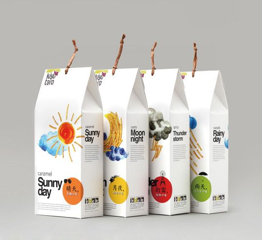 kiyu-taro snack food packaging