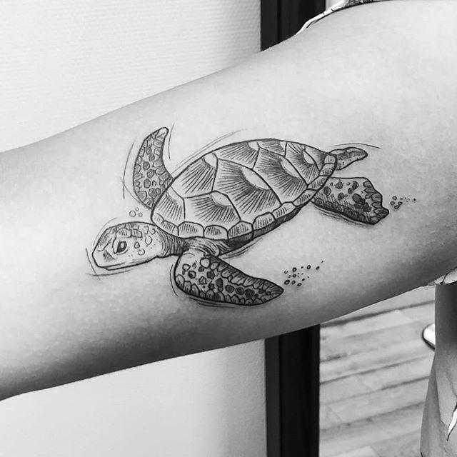 18++ Tortue de mer tatouage inspirations