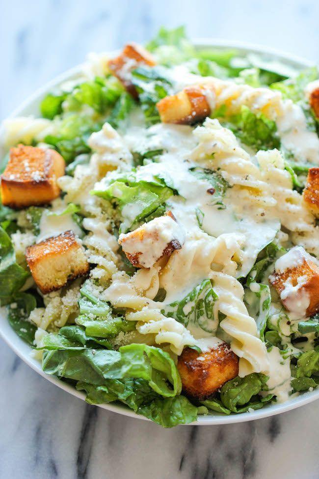 Fusilli Caesar Salad - The best caesar salad with sweet ...