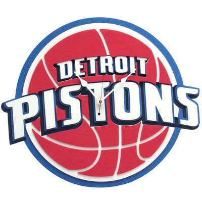 Detroit Pistons 3D Foam Wall Clock