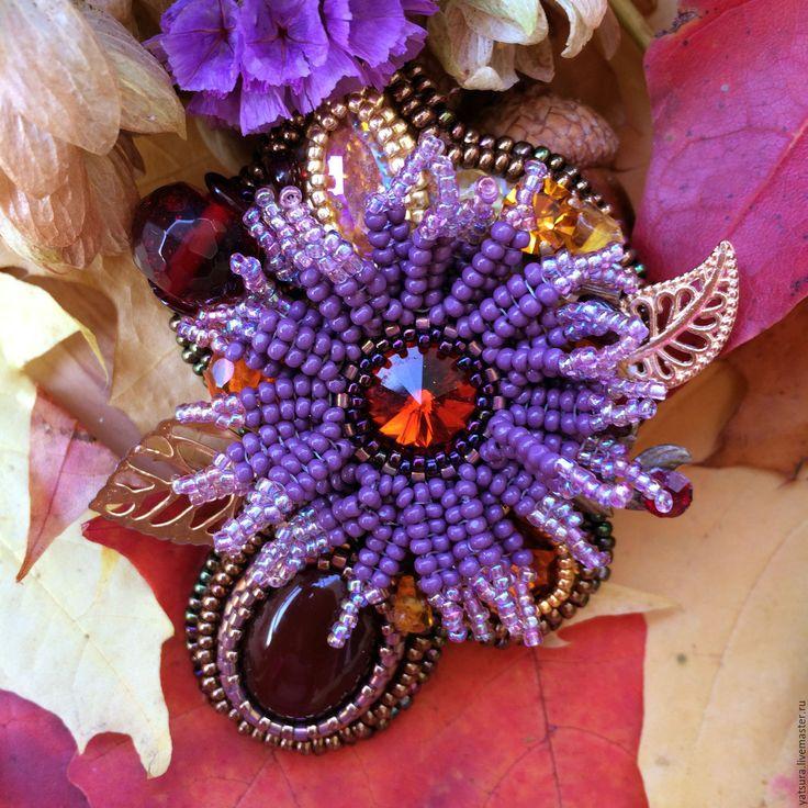 """Купить Брошь-цветок """"Щедрая осень"""" - брошь цветок, брошь-цветок, брошь щедрая осень"""