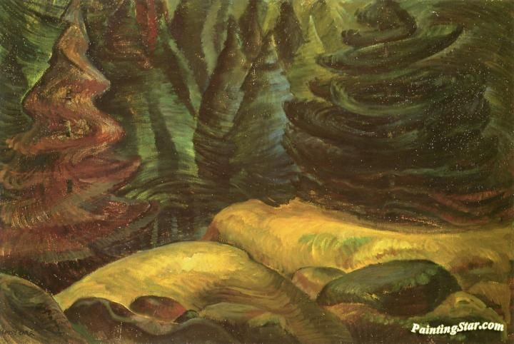 Yellow Moss Artwork by Emily Carr Hand-painted and Art Prints on canvas for sale,you can custom the size and frame