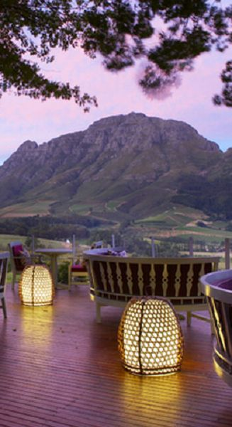 As if this view wasn't relaxing enough, imagine being there in person! #Stellenbosch #Delaire #wine