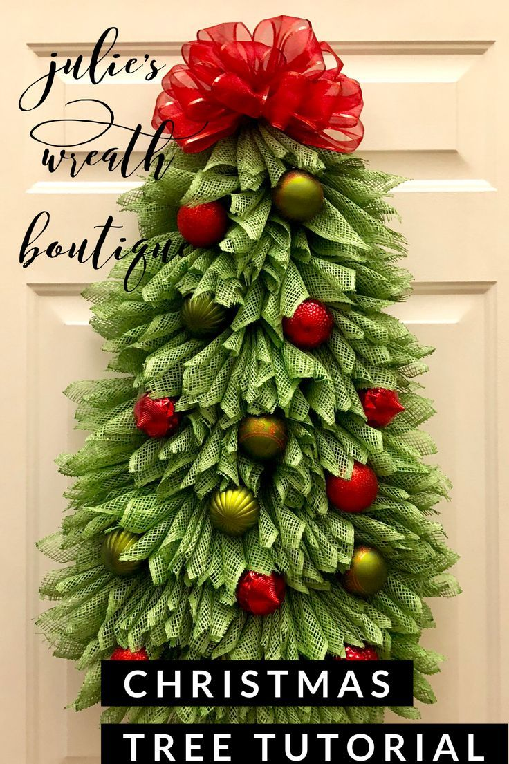 Christmas Tree Tutorial Angel Wreath Tutorial Diy Etsy Christmas Tree Wreath Diy Christmas Wreaths Diy Christmas Tree Flowers
