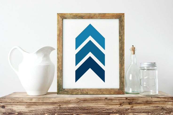Abstract Wall Art, Unique Gift Ideas, Chevrons Wall Art, Navy And White Art, Nordic Wall Art, Minimalist Wall Art, Gallery Wall Art- PT0275 by ShabbyShackStudio on Etsy