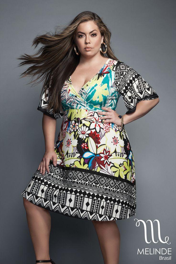 Verão 2016 Melinde com a modelo Fluvia Lacerda pelas lentes de Danilo Borges. Modelagem descomplicada em vestidos, camisas, saias e calças Plus Size
