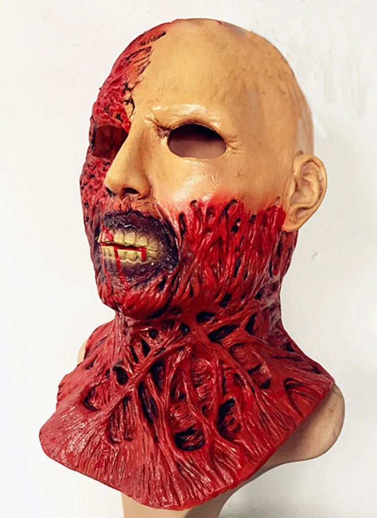 Mask Halloween masquerade masks party horror masks latex hood carnival Scary Devil Zombie Mask halloween realistic devil