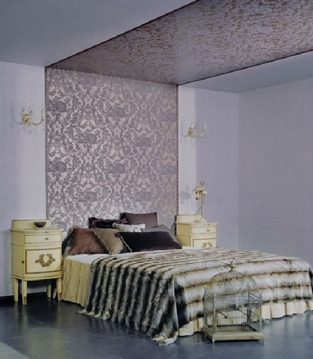 Luxury wallpaper bedroom design