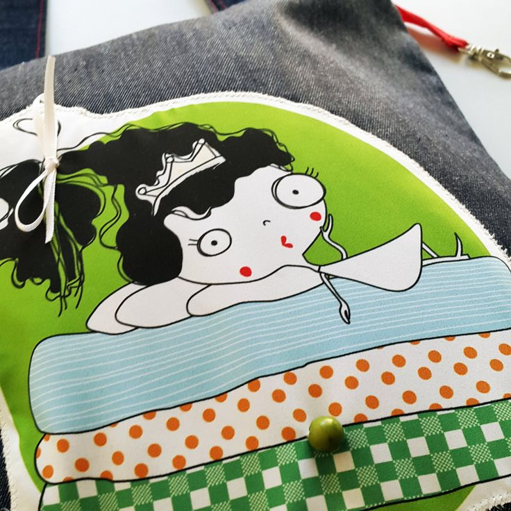 TOTE BAG | The princess and the pea Tote Bag  | Customized Bag | Denim ToteBag | Exclusive product from Barcelona | Handmade Bag by KoCcos on Etsy