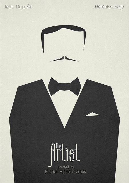 The Artist (2011) ~ Minimal Movie poster by Mads Svanegaard #amusementphile