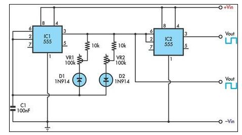 Timer Circuit Diagram With Variable OnOff Times Robotics - Circuit diagram math