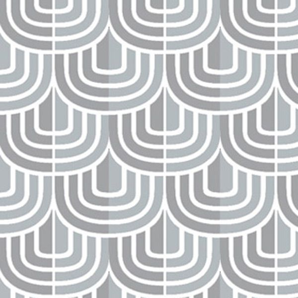 geometric pattern grey curves with white