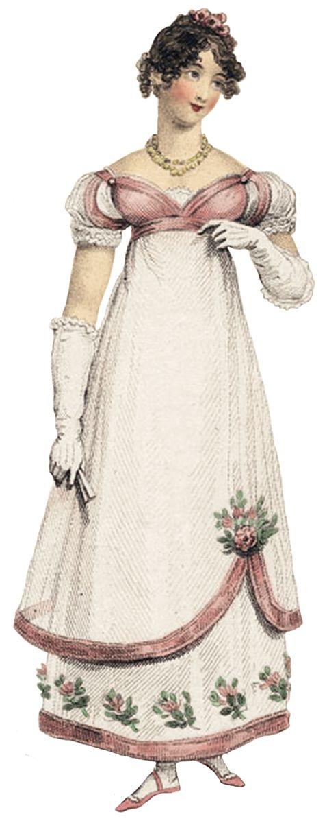 Regency era dress colors for prom