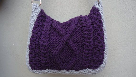 Knitted Handbag Handmade Knit CrossBody Bag Knitted by YellowByZoe