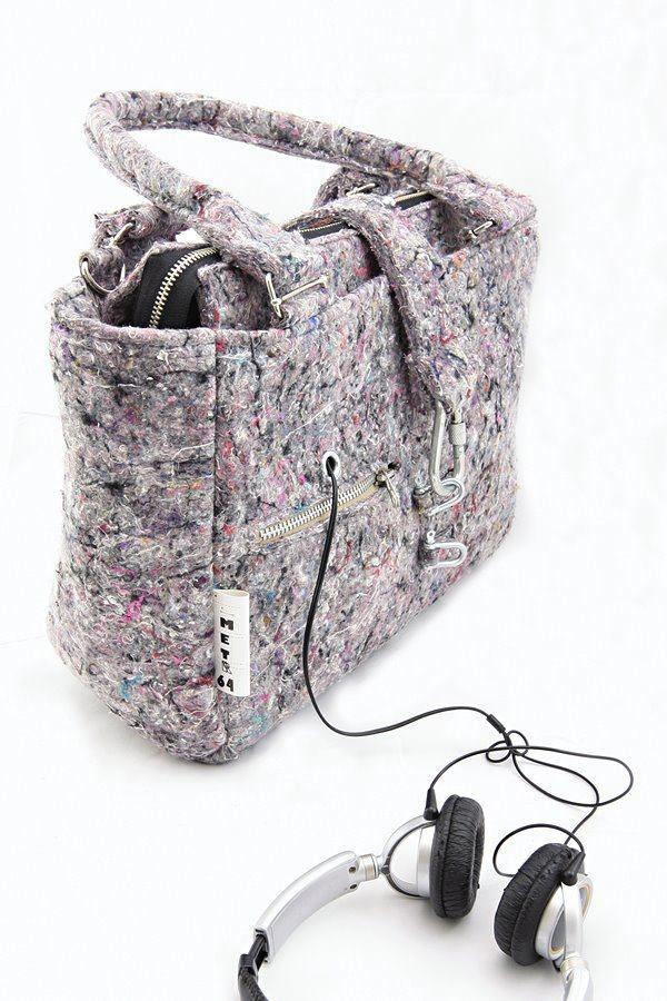 METR64: bag made from recycled industrial felt   torba z filcu przemysłowego z recyklingu