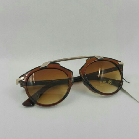 High quality Round vintage women sunglasses   (C81 High quality Round vintage women sunglasses Brown frame brown lens  (C8144) Accessories Sunglasses