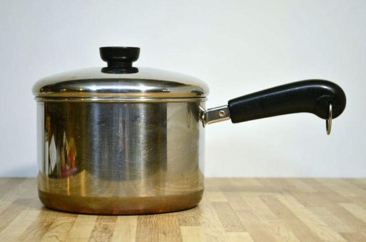 Vintage Revere Ware 3 Quart Made in Clinton, Illinois USA Sauce Pan Copper Bottom by VintageRescuer on Etsy