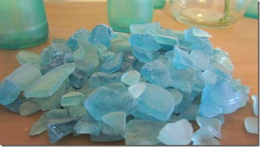 Make your own sea glass...Very cool. I would follow up with a matte polyurethane.