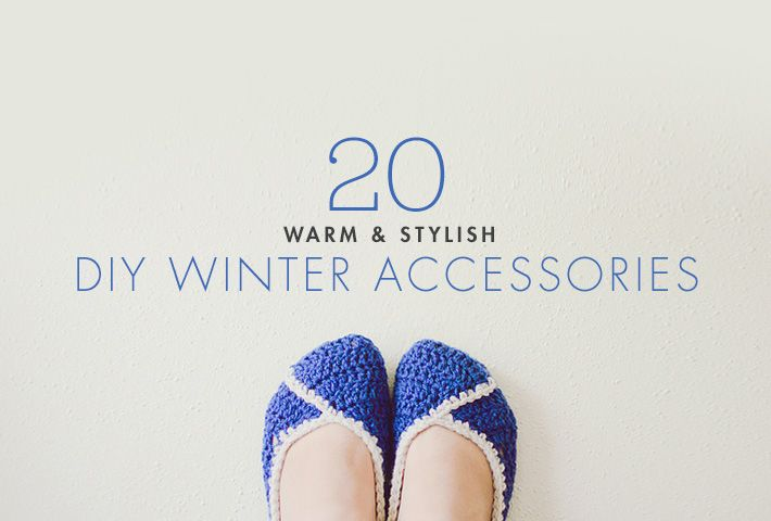20 DIY winter accessories to make ASAP!