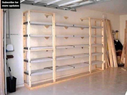 Building a Garage Shelf and Cabinet Unit and Overhead Storage Tips.