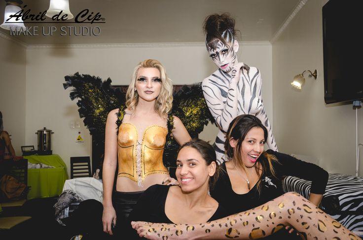 DESFILE CUERPOS PINTADOS!  Ábril de Cip Make Up Studio (Escuela de Maquillaje profesional)