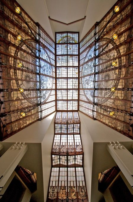 Grand Hotel Amrâth Amsterdam Glass ceiling above staircase